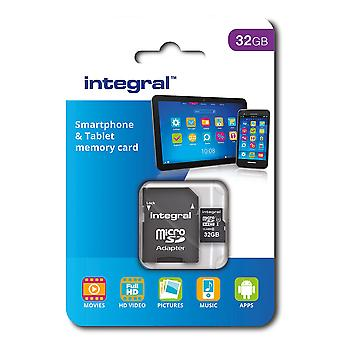 Integral 32 gb microsdhc class 10 memory card for smartphones and tablets, up to 90 mb/s, u1 rating
