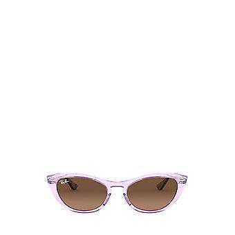 Ray-Ban RB4314N läpinäkyvä violetti naisten aurinkolasit