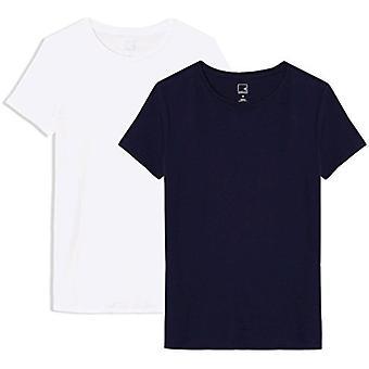 Brand - MERAKI Women's Standard Crew Neck T-Shirt, 2 Pack