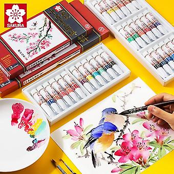 Chinese Sakura Japanese Painting Pigment Gouache Watercolor, Stationery Paint