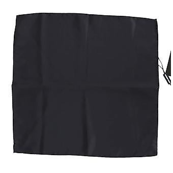 Blue silk mens square handkerchief