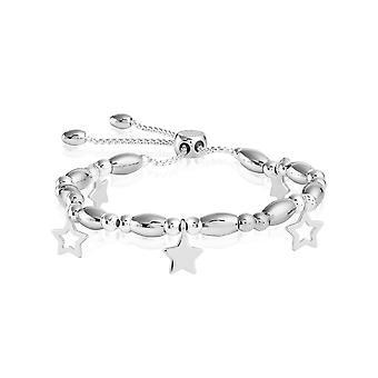 Joma joyería pulsera barra estrellas plata 24.5cm pulsera ajustable 4427
