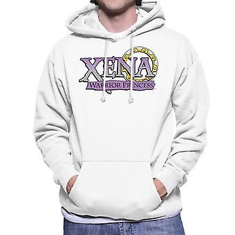 Xena Warrior Princess Purple Gradient Logo Men's Hooded Sweatshirt