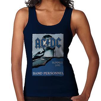 AC/DC Summer 1991 Band Personnel Women's Vest