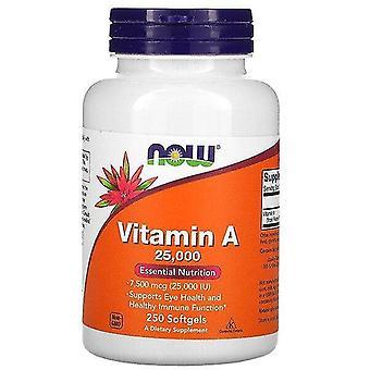 Ahora alimentos, vitamina A, 25.000 UI, 250 cápsulas blandas