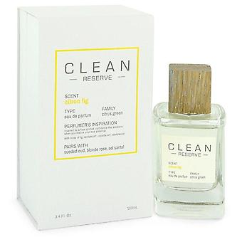 Clean Reserve Citron Fig Eau De Parfum Spray By Clean 3.4 oz Eau De Parfum Spray