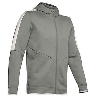 Under Armour Recover Fleece Full Zip Mens Hoodie Hoody Jacket Green