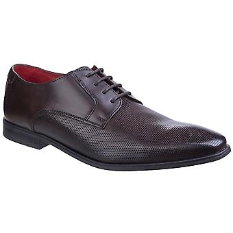 Base Charles Mens Leather Formal Shoes Brown UK Size