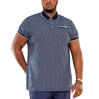 Duke D555 Mens Hornet Big Tall King Size Striped Polo Shirt T-Shirt Top - Blue
