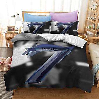 Popular Printed Bedding Set, Duvet Cover Pillowcase Linen Bed Set