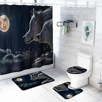 4-częściowy zestaw zasłon prysznicowych Wolf