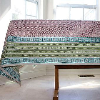 Spura Home Hand Made Indian Oriental Delight Sunrise Cotton TableCloth 5'x5'