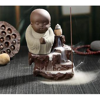 Den lille munk lille Buddha Censer Keramik