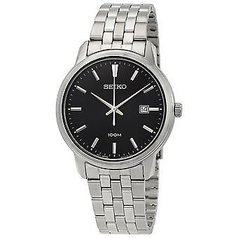 Seiko Neo Classic Diamond Black Dial Men's Watch SUR261P1