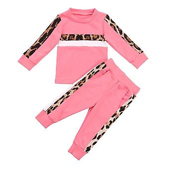Girls Clothing Sets, Autumn Winter Toddler Leopard Print Tracksuit