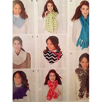 תבנית תפירה פשטות 0470 1235 נשים מתגעגע צעיפים אביזרי אופנה נימולים