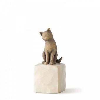 Willow Tree Love My Cat Figurine Version sombre
