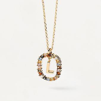 Halsband Kvinna P D Paola CO01-271-U - Plaqu guld Dor