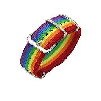 Nylon Rainbow Lesbians Gays Bisexuals Transgender Bracelets