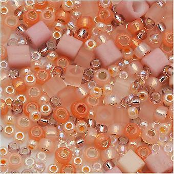 توهو متنوعة الخرز الزجاج 'بيتشي' الخوخ ميكس 8G