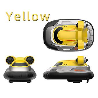 2.4G Wireless Mini Hovercraft Toy Water Electric Remote(Yellow)