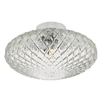 DAR BIBIANA vegg, taklampe polert krom med klart glass stort, 1x G9