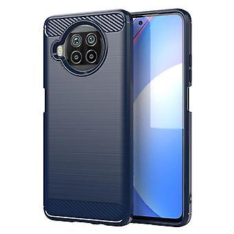 Tpu carbon fibre case for xiaomi 10t lite 5g blue mfkj-91
