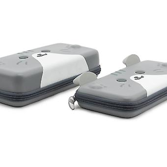 Cute Cats Ears Portables Switch Gray Three-dimensional Ears Travel Carrying