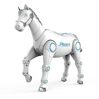 NEW RC Smart Robot Animal Horse Intelligent And Singing RC Smart Toys Kids Gift|RC Robot(White)
