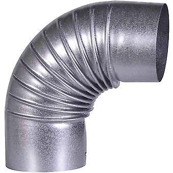 A100/B FAL Bogen 90°, starr, 100 mm-Ofenrohre aus Stahlblech, 0,6 mm stark, innenliegend gemufft,