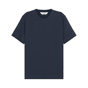 Z Zegna Miesten Tavallinen Sininen T-paita
