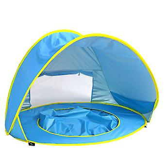 Baby Beach Tent Pop Up Sun Shade Shelter For Baby Or Infant Blue Portable Tent