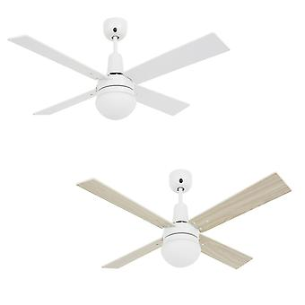 Ceiling fan Airfusion Quest II White with light