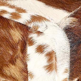 vidaXL banco 160 cm Brown Patchwork Piel de cabra real