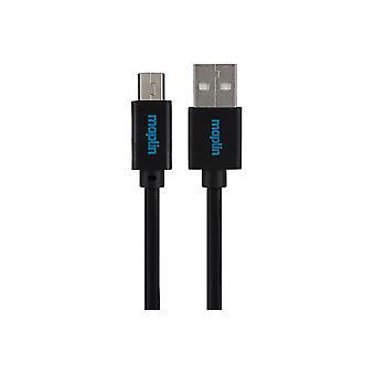 Maplin Premium USB A 2.0 Hane till Mini USB B Hankabel 3.0m Svart