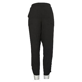 Alle Kvinners Koselig Strikket Slim Bukse Loungewear Svart A307835