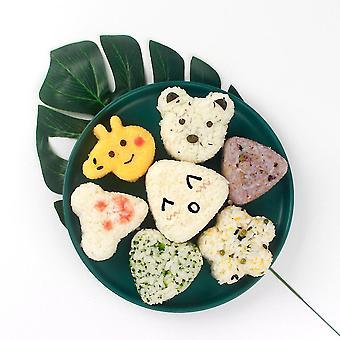 7pcs Sushi Molds Set Cute Cartoon Animals Diy Sushi Making Kit