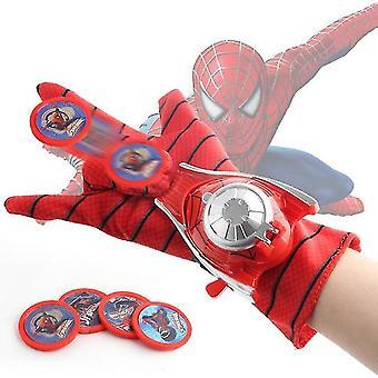 דיסני פלסטיק קוספליי ספיידרמן כפפות משגר צעצוע מצחיק