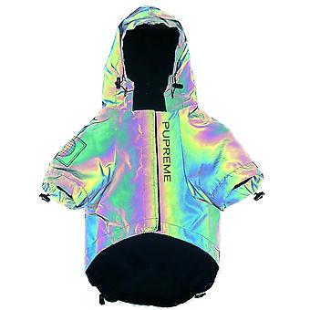 Vêtements pour chiens pour animaux de compagnie Imperméable pour chien Manteau Coupe-vent Mode Caillot réfléchissant couleur Argent