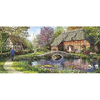 Gibsons Cottage by the Brook Jigsaw Puzzle (636 Pieces)