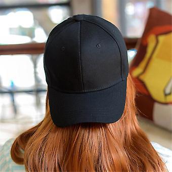 Ajustável Cor Pura Em Branco Curvo Simples Bonés Bom Chapéu visor