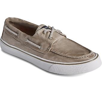 Sperry Bahama Ii Mens Canvas Boat Shoes Taupe