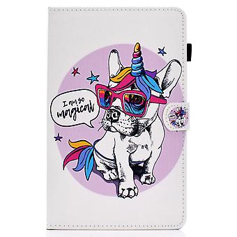 Case For Samsung Galaxy Tab A7 Cover With Auto Sleep/wake Pattern Magnetic - Dog