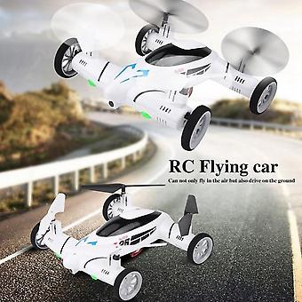 Rc Flying Car Quadcopter 2 In 1 Drone Air Ground Remote Control Toys With Led Lights