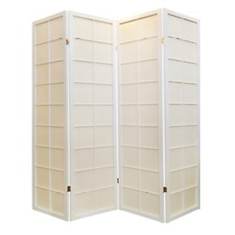 Grzywny Asianliving Japoński Pokój Divider 4 Panele W180xH180cm Ekran prywatności Shoji Rice-paper Biały