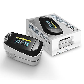Fingertip Pulse Oximeter Blood Oxygen Spo2 Monitor(White)