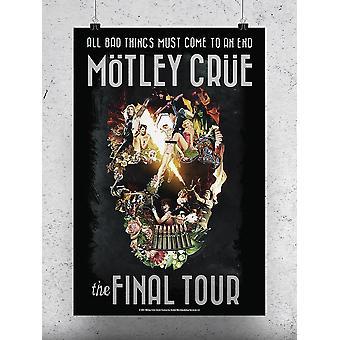 The Final Tour Motley Crue Poster -Motley Crue Designs