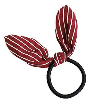 10PCS  Cute Rabbit ears Tied rope hair accessories female rubber band elastic hair bands Korean Hair