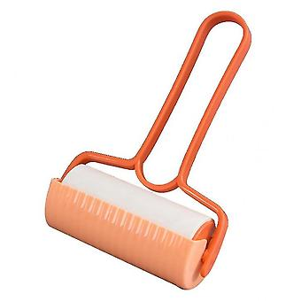 Tearable Sticky Paper Roll Brush Sticking Hair(Orange)