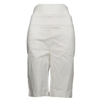 Belle by Kim Gravel Women's Shorts Citi Twill Bermuda Short White A378616